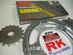 2006-2020 Yzf-r6 Rk 530 Conversion Chain And Sprocket Kit Premium 530 Upgrade