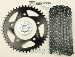 Black Chain & Sprocket Kit 520 Conversion HFRA Aluminum For 91-98 CBR600F2/F3