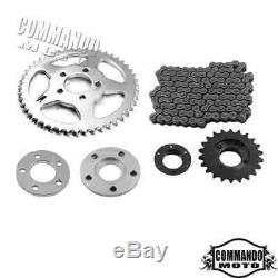 Chain Drive Transmission Sprocket Conversion Kit Universal For Harley Sportster