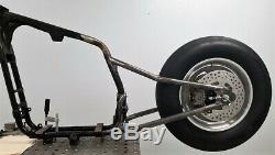 Full on Sportster Hardtail Drag Bike Conversion Kit w Slick, Wheel, Disc, Sprocket
