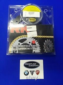 Honda CBR 600RR RK Chain Front And Rear Sprocket Kit Gold 520 Race Conversation