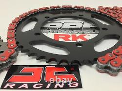 Red 2008-16 GSX650F RK GXW 520 Conversion Chain and Sprockets Kit