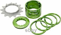 Reverse Single speed conversion kit with 13 sprocket components. Green