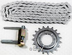 Set Shimano Plug-Sprocket 19 Teeth/Chain NX10 anti Rust With Tool