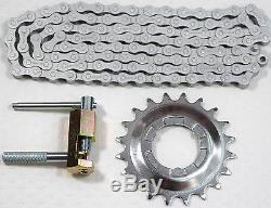 Set Shimano Plug-Sprocket 20 Teeth/Chain NX10 anti Rust With Tool