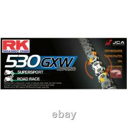 Superlite Chain Conversion Kit Black Sprocket Gold XW-Ring 06-17 Harley Dyna