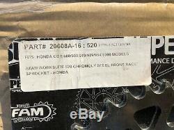 Superlite rs7 520 16 front 45 rear Steel Sprocket Conversion Kit honda vfr cbr