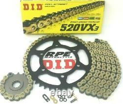 Suzuki DR650 1996-2020 DID Premium 520 Conversion X-Ring Chain and Sprockets Kit