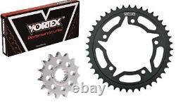 Vortex 525 Conversion Steel Chain and Sprocket Kit 17T 42T 110 Links CK5158