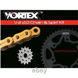 Vortex HFRS Hyper Fast 520 Street Conversion Chain and Sprocket Kit Gold CKG6463