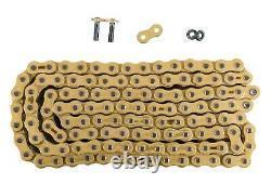 Zippers Custom Chain Conversion Kit Black Sprocket Gold O-Ring Harley Dyna 06-17