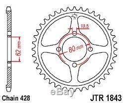 Arrière 14 Roue Kit De Conversion Pour Yamaha Sprocket Roulements Ttr125 00-01 À 02-up
