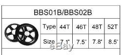 Bafang Originale Bbs01 Bbs02 Chaîne Roue 44t 46t 48t 52t MID Pignon Moteur