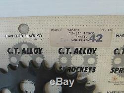C. T. Alliage 42t Sprocket Kit De Conversion (520) Pour Yamaha Yz125 Mx125-175 (2632)