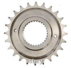 Fermetures Éclair Custom Chain Conversion Kit Black Sprocket Gold O-ring Harley Dyna 06-17