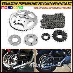 Kit De Conversion De Pignon De Transmission À Entraînement Par Chaîne Pour Harley Sportster 2000-2017