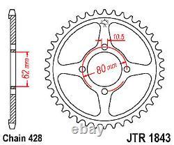 Roulements Sprocket Arrière De Kit De Conversion De 14 Roues Pour Yamaha Ttr125 00-01 À 02-up