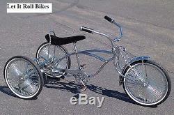 Tricycle Conversion Kit Chrome Hollow Hub 5/8 Essieu Fixe Pignon Lowride Nouveau