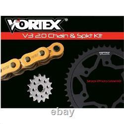 Vortex Hfrs Hyper Fast 520 Street Chaîne De Conversion Et Pignon Kit Or Ckg6463
