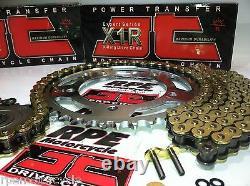 Yamaha'04/09 Fz-6 Fz6s Jt Gold X-ring 520 Conversion Chain & Sprockets Kit
